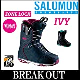 15-16 SALOMON / サロモン IVY レディース ブーツ スノーボード 23.5 BLACK/EMERALDO