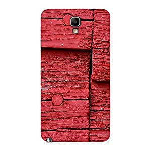 Knot Red Wood Back Case Cover for Galaxy Note 3 Neo