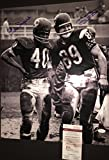 Mike Ditka Gale Sayers Chicago Bears Autographed Signed 16x20 6 Touchdown Game JSA WITNESS COA