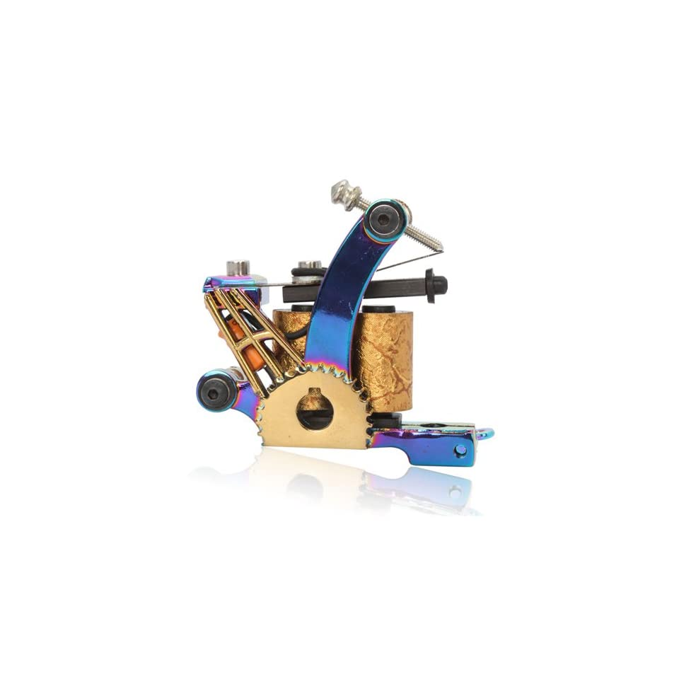 New Cast 10 Laps Coils Tattoo Machine Liner Shader Gun HB WGD031
