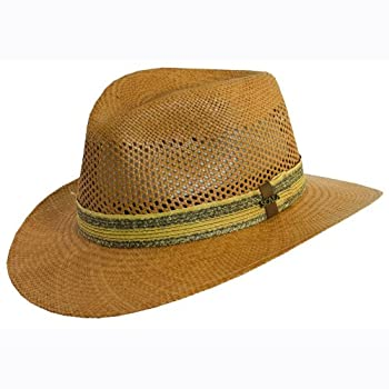 Outback panama hat with braid inlay