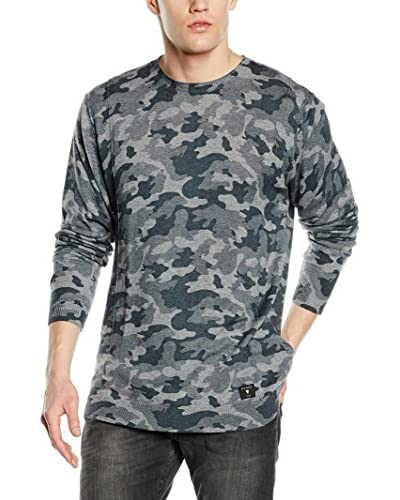Guess Pullover Ferdinand Verde Camouflage XS