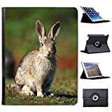 Rabbit On Grass For Apple iPad 2, 3 & 4 Faux Leather Folio Presenter Case Cover Bag with Stand Capability