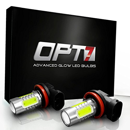 Opt7® H11 Nova Plasma Led Fog Light Bulbs - 10000K Deep Blue - Plug-N-Play (Pack Of 2)