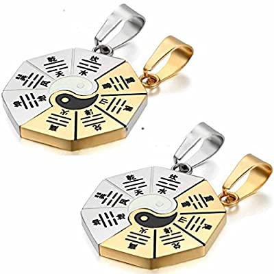 Janestore Interlocking Ring Matching Promise True Love Pendant Necklace