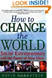 How to Change the World: Social Entrepreneurs and the Power of New Ideas
