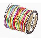 Y-BOA - 70m Fil Nylon Tressé Cordon - Multicolor - 1.5 mm Bijoux Bracelet Bresilien Perles Shamballa