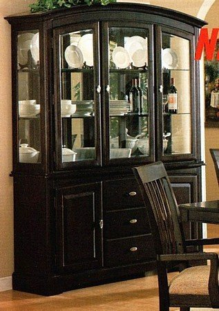 Cheap Sunset Hutch and Buffet Set in Cappuccino (B0007WXVRA)