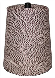 T.W . Evans Cordage 07-045 4 Poly Variegated 2-Pound Cone, 9600-Feet, Brown and White