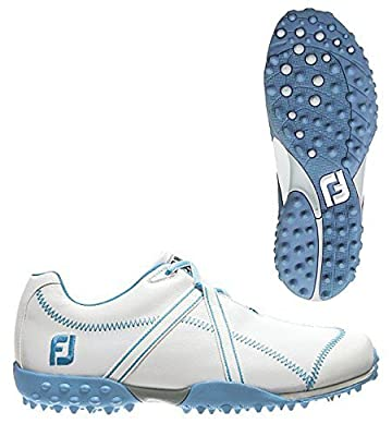 FootJoy 2014 Ladies M Project Golf Shoes, Close-out, White-Blue 8 Medium 95656
