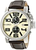 Haurex Italy Men's 3A506UTM TURBINA II Analog Display Quartz Brown Watch