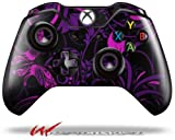 Twisted Garden Purple and Hot Pink - Decal Style Skin fits Microsoft XBOX One Wireless Controller