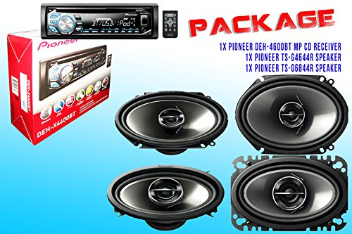 Package ! Pioneer Deh-X4600Bt Cd-Receiver + Pioneer Ts-G6844R Speaker + Pioneer Ts-G4644R Speakers