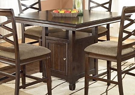 Hayley Contemporary Dark Brown Counter Height Dining Table