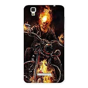 Impressive Ghost Multicolor Rider Back Case Cover for Yu Yureka