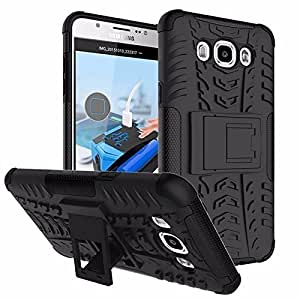 Rapid Zone Kick Stand Spider Hard Rugged Armor Hybrid Bumper Back Case Cover for Samsung Galaxy On 5 - Black