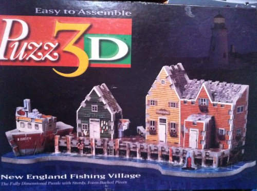 Picture of Hasbro Puzz 3D - New England Fishing Village (169 pieces) (B004EASKQ8) (Brain Teasers)