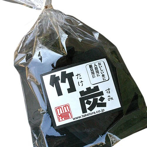 【飲料水、炊飯用】水道水を美味しく浄水、ご飯も美味しく炊ける!最高級土窯づくりの竹炭(平炭)200g