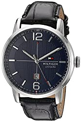 Tommy Hilfiger Mens 1791216 George Analog Display Japanese Quartz Black Watch