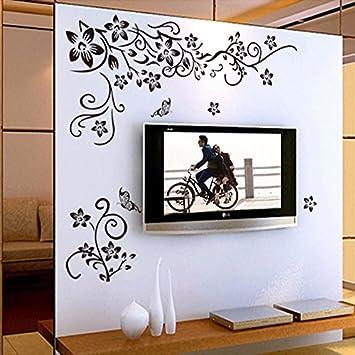 Pegatina de pared vinilo adhesivo decorativo para cuartos for Plantas decorativas amazon