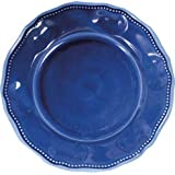 Le Cadeaux 11 in. Prov Solid Blue Dinner Plate