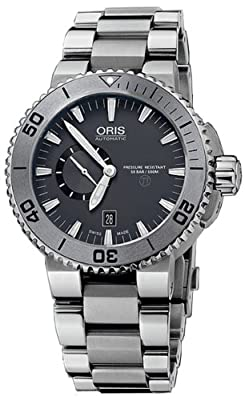 Oris Men's 74376647253MB TT1 Diver Analog Display Swiss Automatic Silver Watch