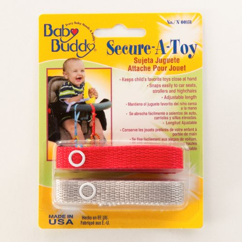 Baby Buddy Secure A Toy 2ct Red Silver Christmas Amp New