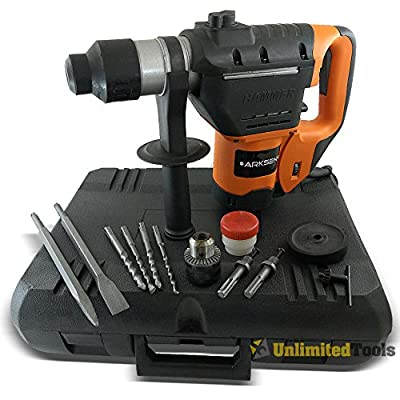 """1-1/2"""" SDS Rotary Hammer Drill Kit Concrete Demolition Tool 1.5HP w/ Bits & Case"""