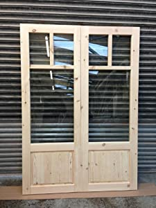 Softwood external french doors with frame for External french doors and frame