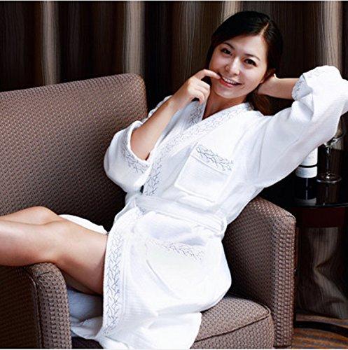 Warm Cotton Terry für Hotels in home Freizeit Gewand Männer Bademantel , gold embroidery , xl