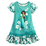 Disney Store Girls' Jasmine Ruffled Nightshirt -5-6 Green thumbnail