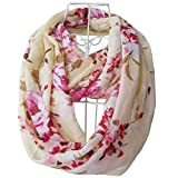 Tapp C. Multicolor Floral Print Infinity Scarf - White