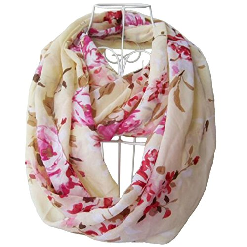 tapp-collections-multicolor-floral-print-infinity-scarf-cream