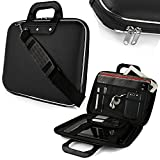 Evana Cady Collection Durable Briefcase Carrying Laptop Tab ipad mini macbook air Case with Removable Shoulder Strap for 15.6