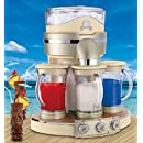 Margaritaville Tahiti Frozen Concoction Maker with 3 Fully Automatic Blending Stations, 6 Drink Settings, 72 oz per Cycle