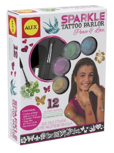 ALEX Toys Spa Fun Sparkle Tattoo Parlor Peace and Love