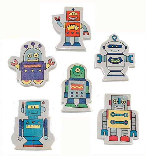 ROBOT ERASER (2 DOZEN) - BULK