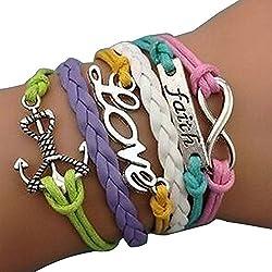 Giftgarden Bangle Bracelets - New Fashion Vintage Bracelet Multilayer Braided Bangle Handmade Jewelry Cuff charm bracelets for girl by Sainthood