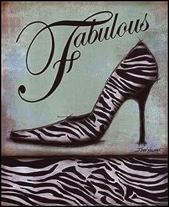 (8x10) Todd Williams Zebra Shoe Art Print Poster