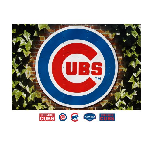 MLB Chicago Cubs Chicago Cubs Ivy Logo Mural Wall Graphic at Amazon.com