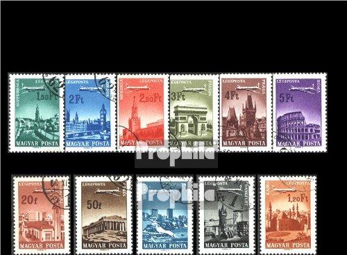 Ungarn 2280A-2290A (kompl.Ausg.) gestempelt 1966 Städte und Flugzeige (Briefmarken für Sammler)