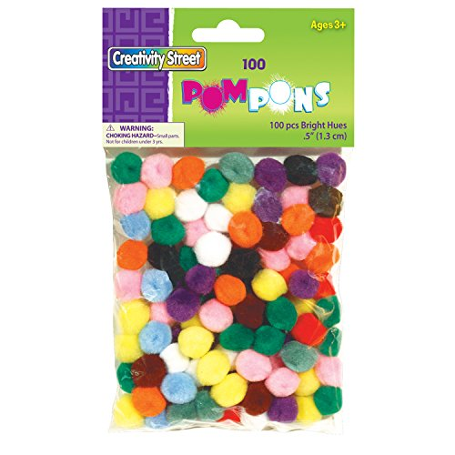 "Creativity Street Pom Pons 100-Piece X 1/2"" Assorted Colors"