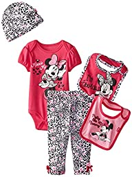 Disney Baby Girls\' Minnie Mouse 5 Piece Set I\'m Fabulous, Pink, 0-6 Months