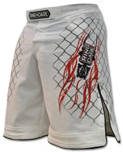 Elite Fight Shorts - Black or White for MMA, BJJ, Jiu Jitsu, Grappling, No Gi, Wrestling (Waist 32