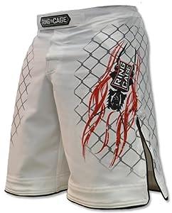Elite Fight Shorts - Black or White for MMA, BJJ, Jiu Jitsu, Grappling, No Gi, Wrestling (Waist 42