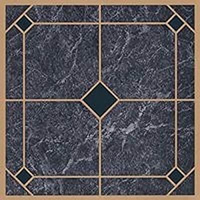 "45 Self Adhesive Blue+Gold 12"" X 12"" Vinyl Flooring Tiles"
