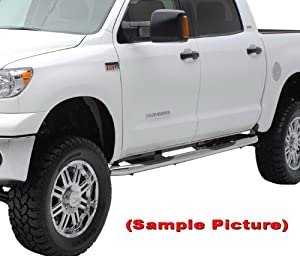 """05-12 Toyota Tacoma Double Cab Stainless Steel 3"""" Side Step Nerf Bars Running Boards(2pcs with Mounting Bracket Kit) from MaxMate"""