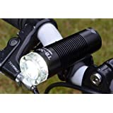 Compact 300 Lumen USB Rechargeable Side illumination Bicycle Headlight with Integrated Li-ion Battery