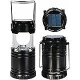 Home Pro LED Solar Light Lantern Black