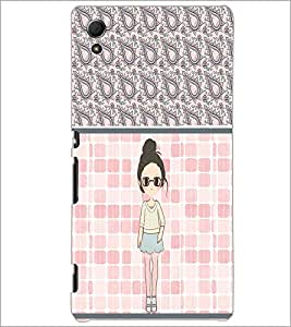PrintDhaba Cute Girl D-2758 Back Case Cover for SONY XPERIA Z4 (Multi-Coloured)
